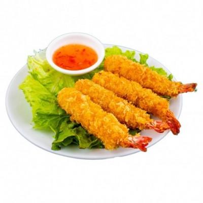 Crevettes tempura(4 pièces)